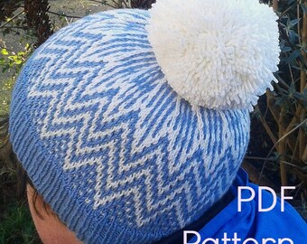 Chiltern Hat, a PDF Knitting Pattern by Theresa Shingler