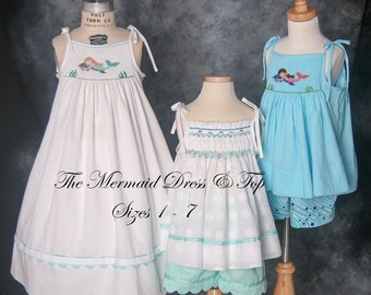 The Mermaid Dress & Top Pattern, sizes 1 - 7