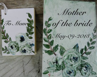 Mother of the bride gift, To my mom on my wedding day card, wedding gift for mom,  Mother of the bride,Personalized Wedding Gift for Mother