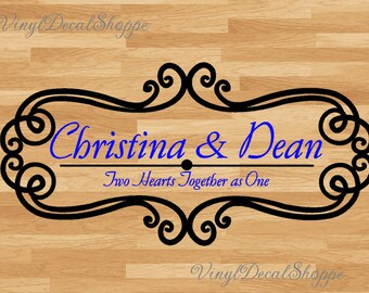 Dance Floor Decal, Dance Floor Sticker, Personalized Decal, Wedding Decor, Wedding Decal, Custom Wedding Decal, Custom Wedding Decor, Decal