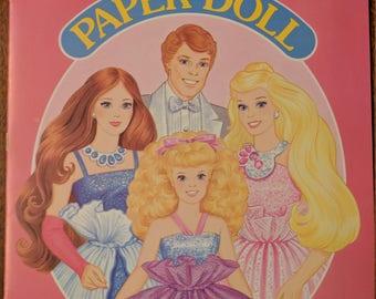 Vintage Barbie Paper Doll Books Precut • 1987 Barbie, Golden Paper Dolls MATTEL