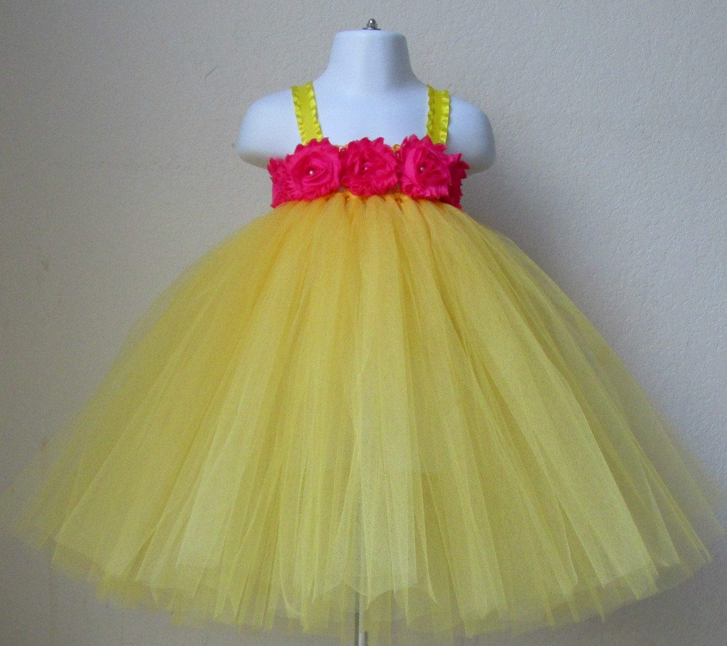 Yellow tutu dress