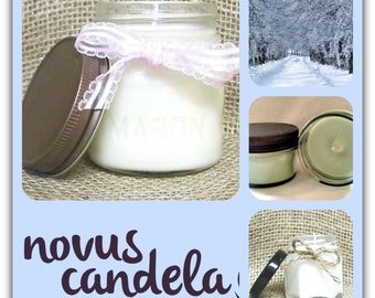 winter wonderland candle, Mother's day gifts for women, soy candles handmade,  gift for her, mason jar candles, gifts for girls  for mom