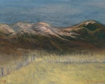 """Greeting Card, New Mexico Landscape Series, """"El Rito Snow Shine #4"""""""