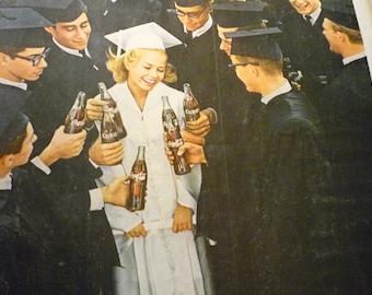Graduates Love Coke  -1960s Happiness - 4 x 6 digital print