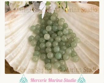 aventurine 8mm natural pearls 10 beads