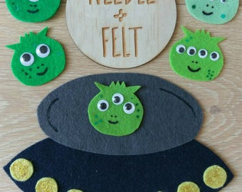 5 Little Men in a Flying Saucer Felt Board Story Song