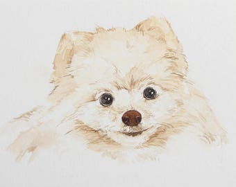 Custom Dog portrait Custom Dog Painting Custom Pet portrait Watercolor Painting Original Painting Christmas gifts for mom