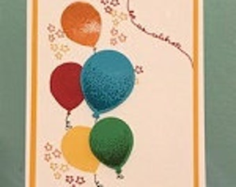 Let Us Celebrate Balloons Greeting Card