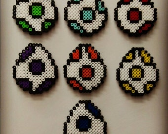 Yoshi Mini Perler Eggs!