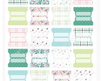 SMALL SIZE Printable Christmas Gifts Planner File TABS - Digital File Instant Download- plaid, pastels, polka dots, presents, pastel