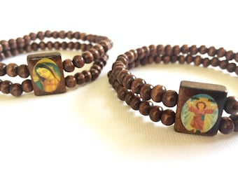 cherry san st religious b catholica inch l medal wood products benito grande bracelet catholic beads shop benedict