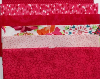 100% Cotton Fat Quarter Bundle- Bright pink