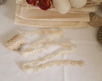 Vintage French Crochet Lace Trim - 2.5 metres