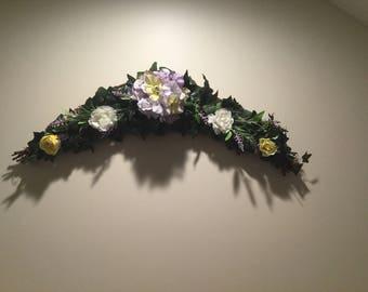 Light purple hydrangea arch