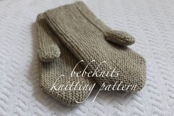 Bebeknits Easy European Style Adult Mittens Knitting Pattern