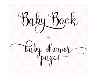 Set of 20 Baby Shower Pages for Charmbooks Baby Books
