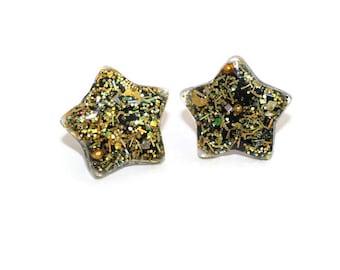 Gold Star Studs Cute Post Earrings Hypoallergenic Lead and Nickel Free Earrings