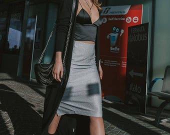 Lamé Fleece Skirt