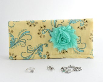 Jewelry Organizer for travel or home. Lined with Anti-Tarnish Fabric. Jewelry Organizer, Jewelry Box, Jewelry Protector, Prevents Tarnish