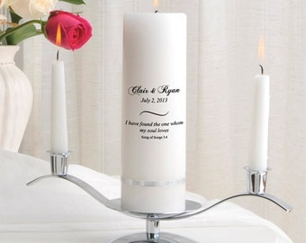Unity Candle Set - Personalized Wedding Candle Sets - Unity Candles GC330 CP8
