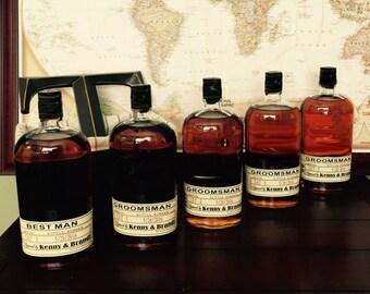 Will you be my Groomsman - Custom Wedding Party - Groomsman Liquor Labels - Bourbon - Whiskey - Best Man Labels (5 labels)