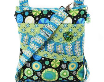 Small Crossbody Bag Turquoise Blue Black Green