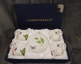 Vintage I Godinger & Co. Espresso Demitasse set of 4