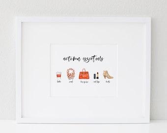 Autumn Essentials, Fall Fashion, Fall Essentials, Autumn Favorites, Fall Favorites, Autumn Wall Art, Fall Print, Autumn Print, Fall Decor
