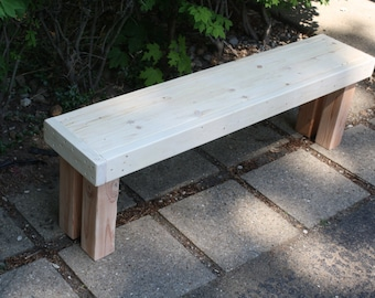 Unique Primtiques Solid Natural Wood Top Choice Douglas Fir & Northern Pine Framed Bench 12x58x18h Custom Sizes Colors Available Home Decor