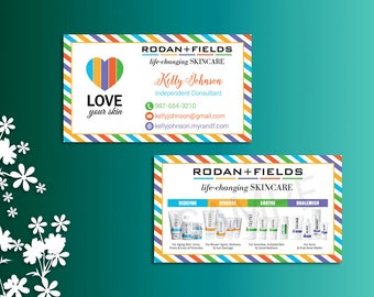 Rodan and fields business cards fast personalized rodan rodan and fields business cards fast personalized rodan fields independent consultant modern colourmoves Gallery