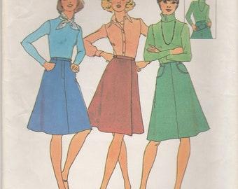 70s Basic Wrap & A-Line Skirt Pattern Simplicity 7111 Size 10 Uncut