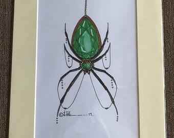 Artwork print - Emerald Spider