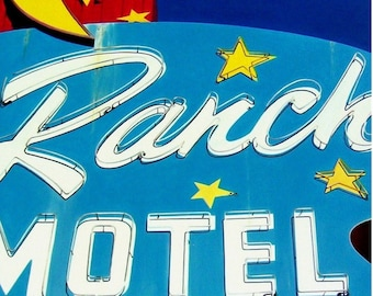 Sky Ranch Motel - Acrylic Painting - Vintage Vegas Googie