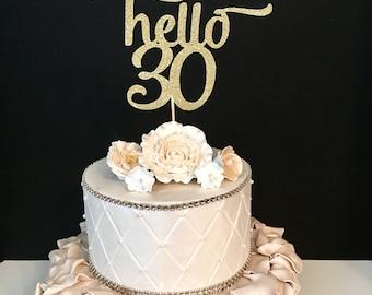 30th cake topper Etsy