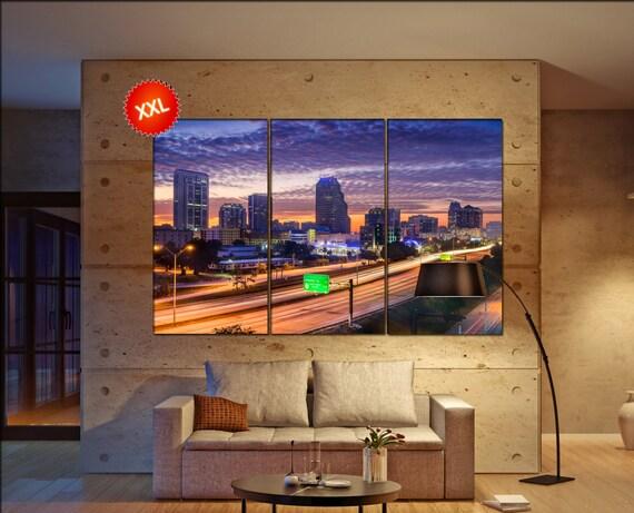 Orlando  canvas wall art skyline Orlando wall decoration Orlando canvas wall art art Orlando  wall decor canvas wall art art