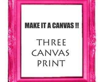 Canvas Print Artwork  THREE Canvas Print