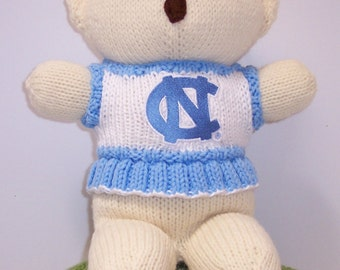 Bear, North Carolina Tar Hills Cheerleader Bear, Baby Girl Bear, Baby Shower Gift, Birthday Gift, Keepsake Bear, Souvenir Bear