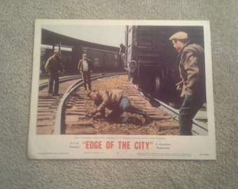 Edge of The City    1956  M-G-M  Lobby Card No. 5   John Cassavetes  / Jack Warden
