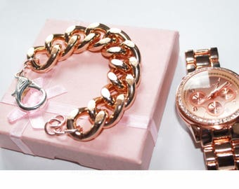 Ultra Bold: Rosegold Jewelry, Rosegold Bracelet, Rosegold Chunky Bracelet, Chunky jewelry, Chunky bracelet