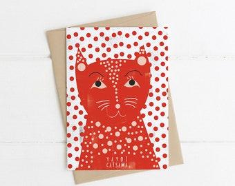 Yayoi Kusama (Catsama) Artist Cat Card