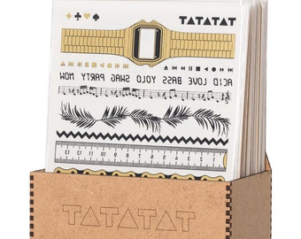 TATATAT temporary tattoos - Klebetattoos. Bracelet set by D.Bizer & C.Wolff