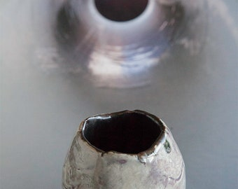 Purple Gray Pinch Pot