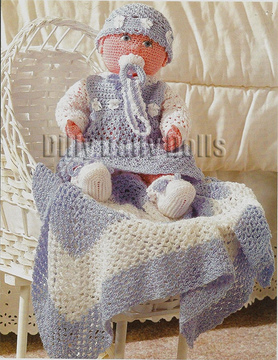 Life size baby doll crochet pattern including dress booties life size baby doll crochet pattern including dress booties hat blanket and soother dt1010fo
