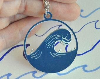Blue Wave Necklace Democrat Necklace Resistance Jewelry Vote Blue Wave 2018 Resistance Necklace
