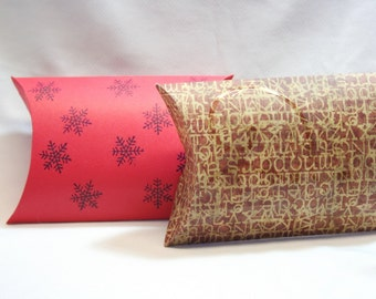 DIY Box, Gift Box, Paper Box, Box Template, Large Pillow Box, Favor Box, Printable Box