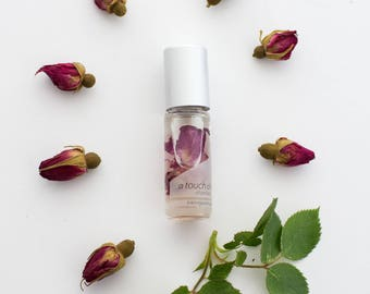 NEW A touch of rose ~pure essential & fragrance oils with organic rose petals, All natural perfume with no alcohol, synthetics or toxins