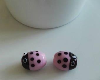 2 cute ladybugs pink
