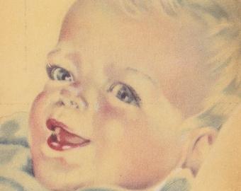 Vintage Baby Postcard - Europe