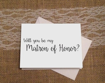 Will You Be My Matron of Honor, Maid of Honor and Bridesmaid Cards, Bridesmaid Card, Bridal Party, Wedding